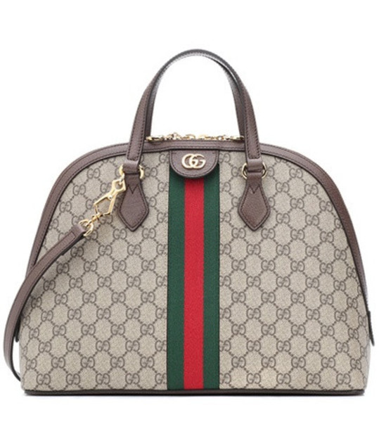 Gucci Ophidia GG Medium shoulder bag in brown