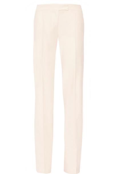 Stella McCartney pants wide-leg pants wool blush