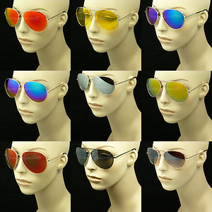 Mirror sun glasses silver men women new pilot polarized aviator anti glare mm3