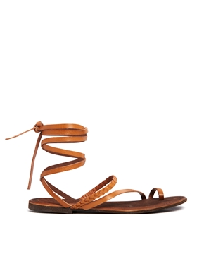 ASOS | ASOS FAIRY Leather Flat Sandals at ASOS