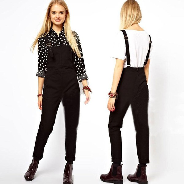 Perfect ASOS  ASOS High Waisted Pants With Suspenders At ASOS