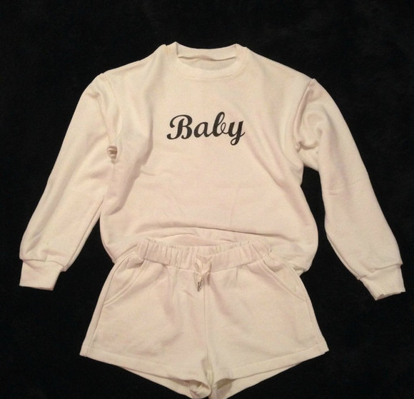 print baby set text jersey college