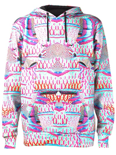 Marcelo Burlon County Of Milan Hooded Graphic Sweatshirt - H. Lorenzo - Farfetch.com