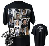 t-shirt,sons of anarchy,black t-shirt,mugshot