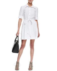 Milly Cleo Tie-Waist Shirtdress