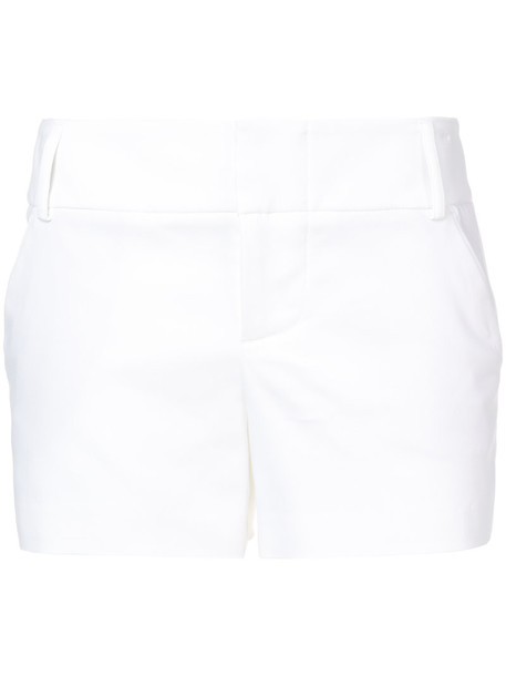 Alice+Olivia shorts women spandex white cotton