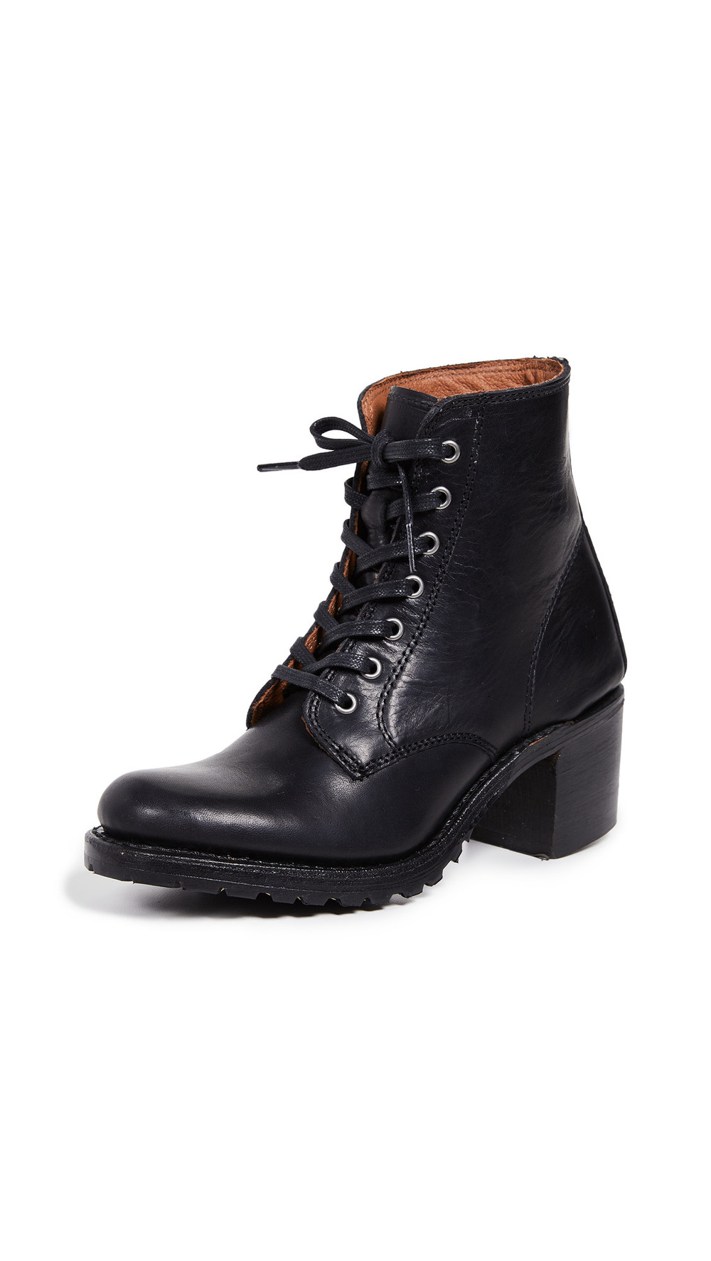 Frye Sabrina 6G Lace Up Boots in black