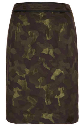 Camo Jacquard Pencil Skirt - Pencil Skirts - Skirts  - Clothing - Topshop