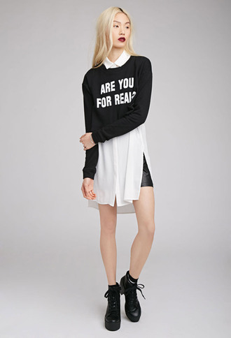 sweater long sleeves long sleeve sweater unisex blackand white black and white black and white sweater quote on it word