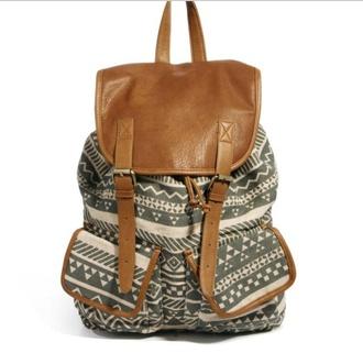 bag backpack river island leather backpack vintage