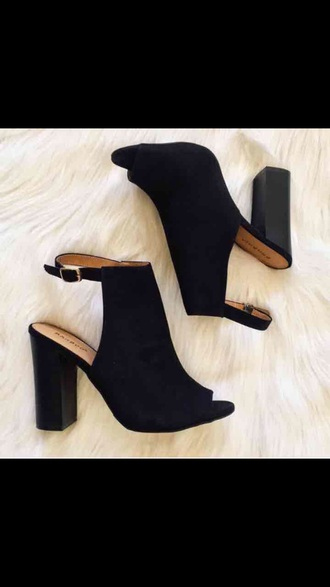 shoes block heels ankle boots peep toe boots