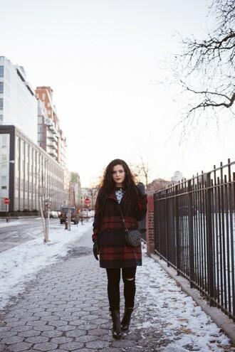 noelles favorite things blogger coat sweater jeans gloves shoes bag