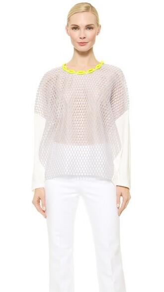 blouse long purple top