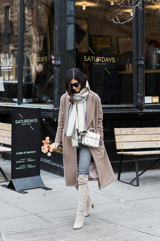 this time tomorrow blogger wool coat winter outfits suede boots winter scarf