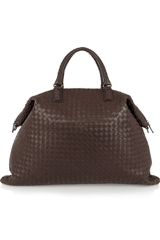 leather chocolate bag