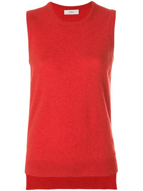 PRINGLE OF SCOTLAND vest women red jacket
