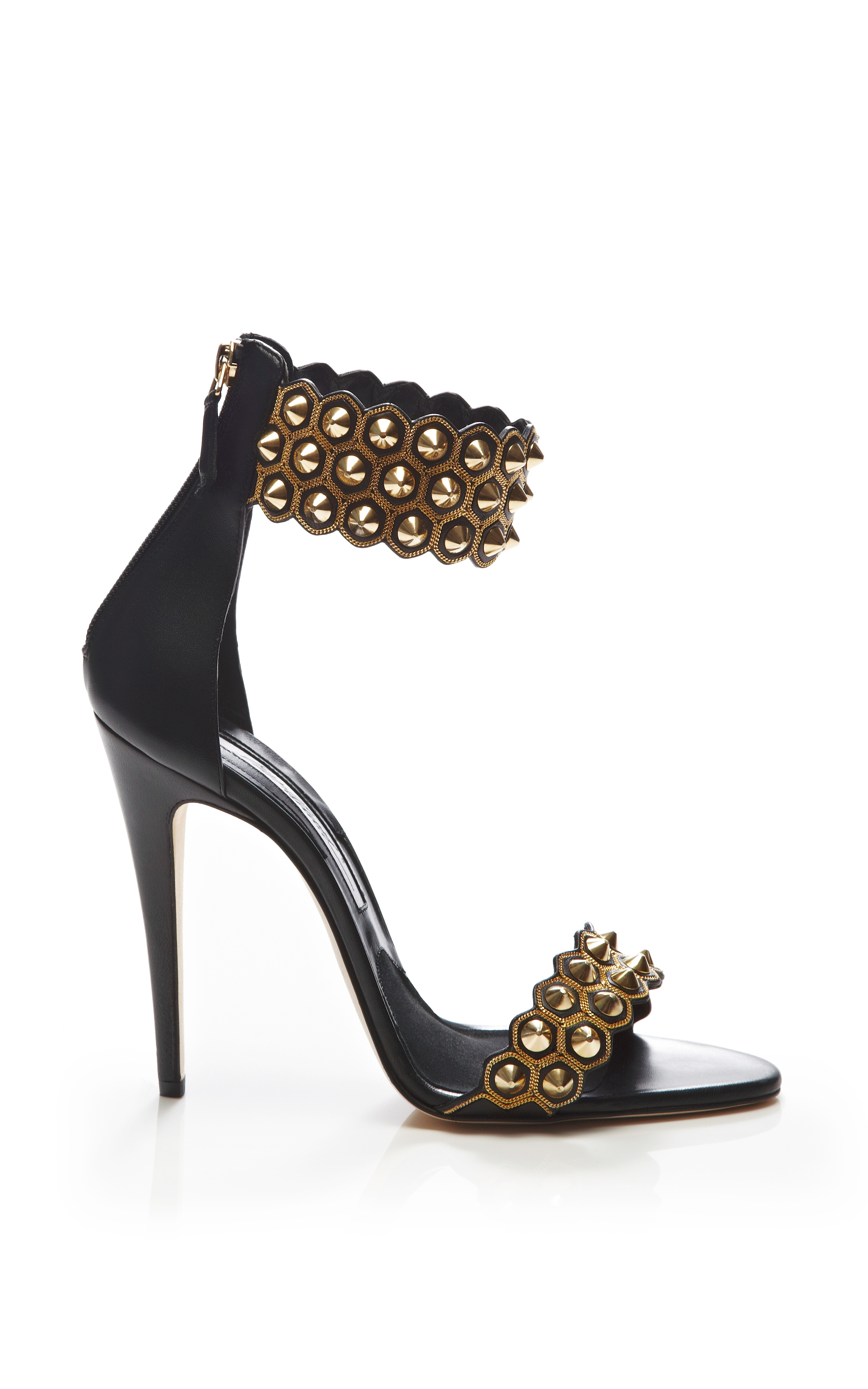 Abel Studded Leather Sandals by Brian Atwood - Moda Operandi