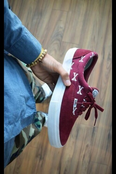shoes bordeaux vans sneakers
