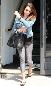 shoes,flip-flops,lea michele,leggings,jacket