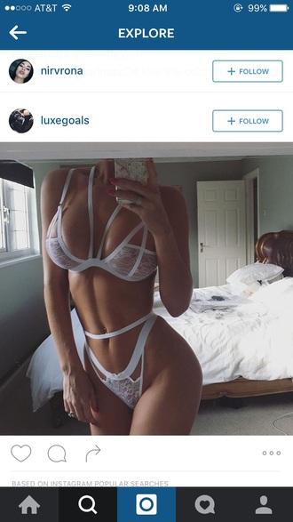 underwear lingerie lingerie set white sexy