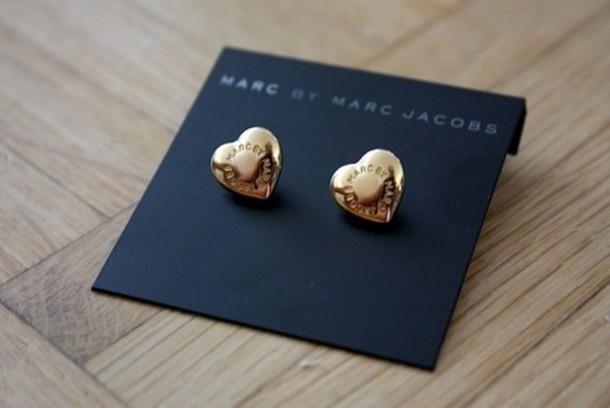 729c49dbdf4 jewels marc jacobs accessories gold heart earrings print
