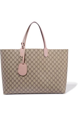 leather beige bag