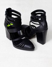 shoes,booties,black high heels,sandal heels