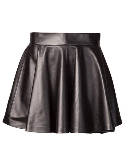 Tan pleated skirt