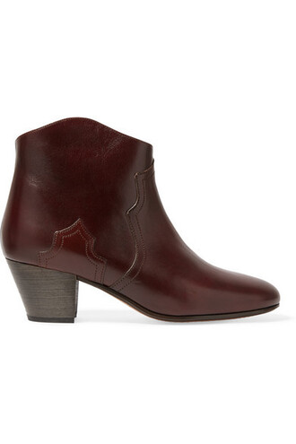 leather ankle boots dark boots ankle boots leather brown shoes