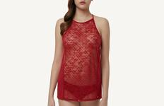 Completino Top e Slip in Tulle Floccato - Intimissimi