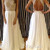 Charming Chiffon White Long Lace Prom Dresses,Evening Dresses - 24prom