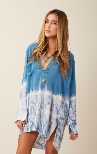 boho tie dye dress beachy dress