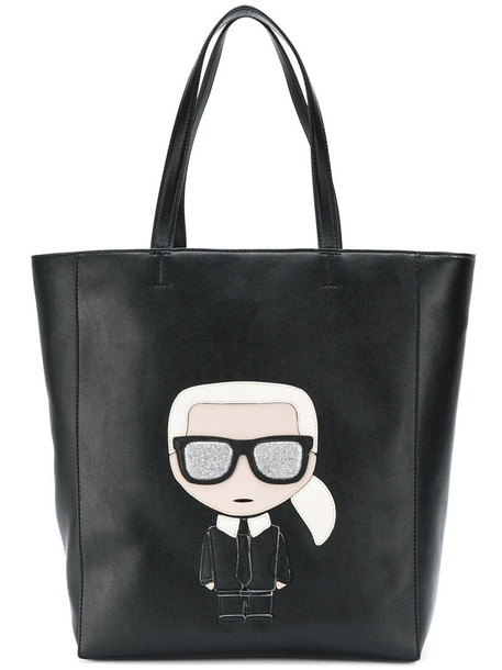 karl lagerfeld women bag tote bag leather black