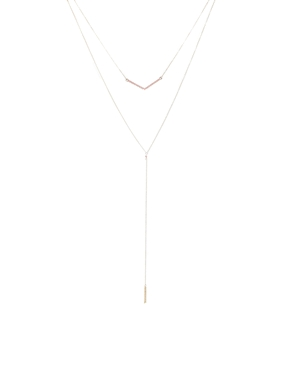 Asos faux pearl multirow tassel necklace at asos