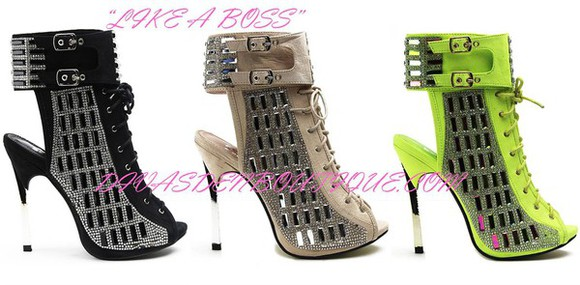 shoes sandals open toes cut-out hashtag buckle gladiator backless peep toes heel bootie boot stiletto nails