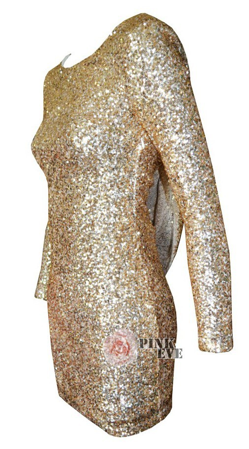 Free shoping new arrivals fashion gold sequined dress sexy backless bodycon. party dress(6colors)  tb 5438
