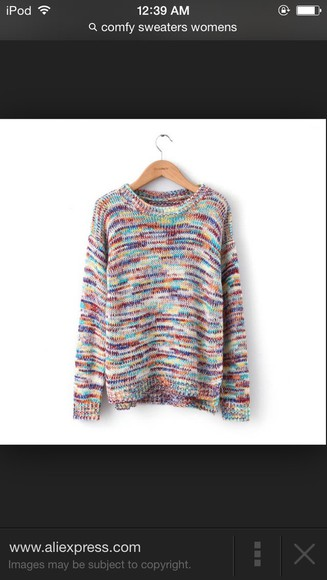knitted comfy muticolored