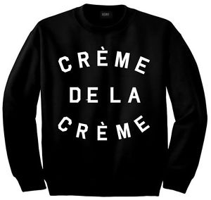 Creme de La Creme Crewneck Sweatshirt by Kings of NY Black Beyonce Fashion High | eBay