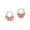 Jacquie aiche mini disco shaker hoop earrings - rose gold