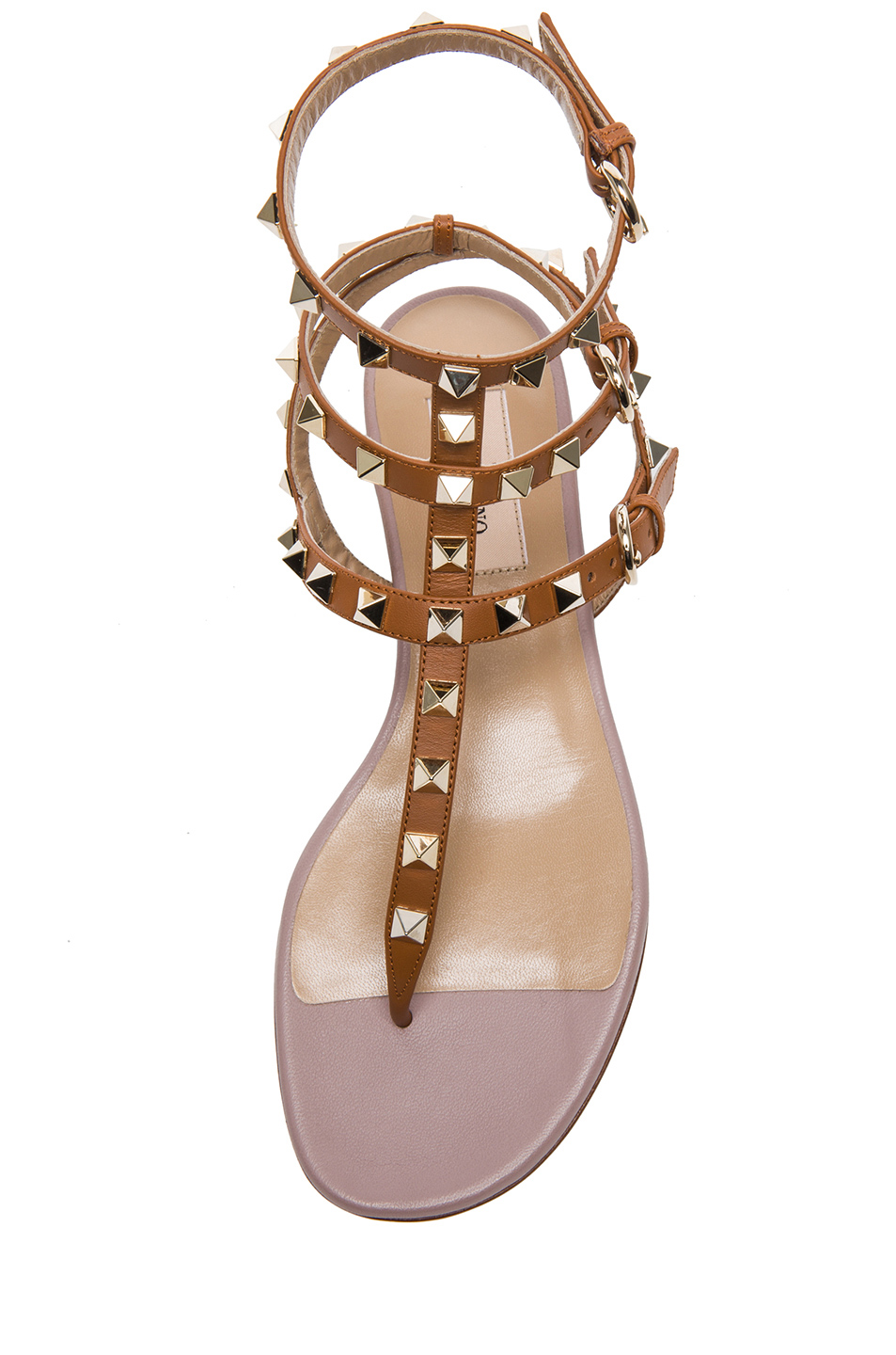 Valentino | Rockstud Leather Sandals T.05 in Light Cuir