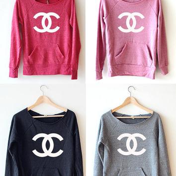 Women Crop Sweatshirt - Chanel LOGO on Wanelo