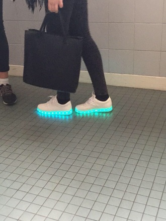shoes luminous shoes luminous style sneakers swag light up shoes dope cardigan coat
