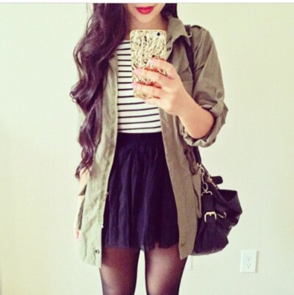 Coat Nice Fashion Clothes Jacket Style Skirt Wheretoget