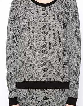 Just Female   Just Female Textured Sweatshirt at ASOS
