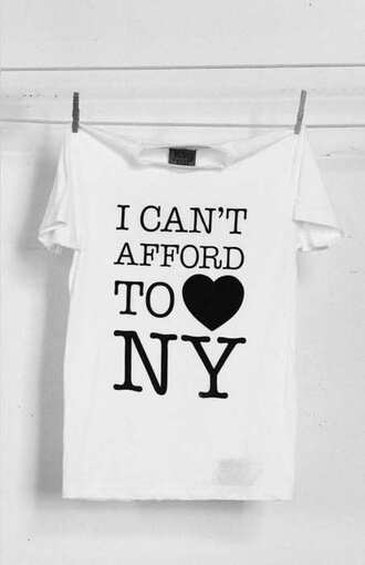 ny t-shirt white i heart new york new york city funny