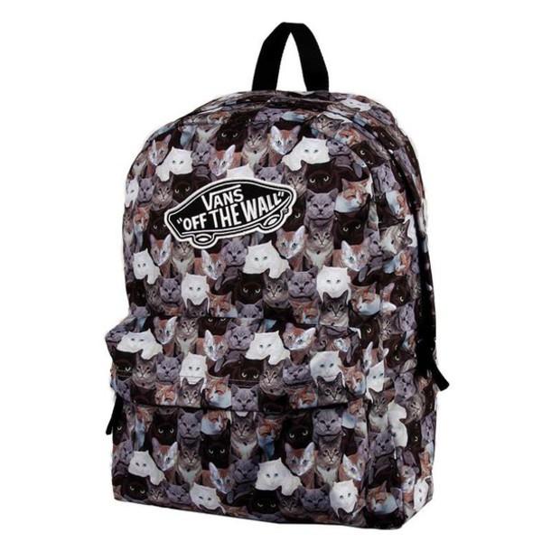 6d49f65e6d bag cats vans backpack back to school cute
