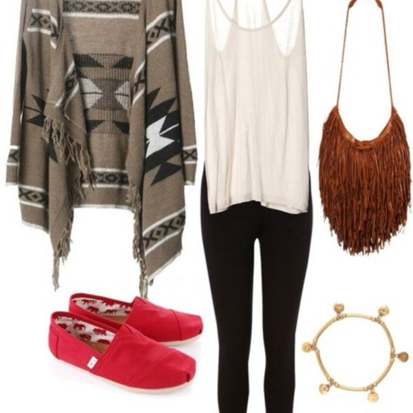 sweater blouse shoes bag jewels pants