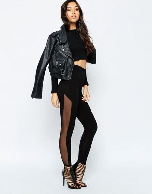 ASOS Leggings with Mesh Side at asos.com