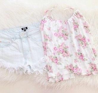 shirt cute pink flowers