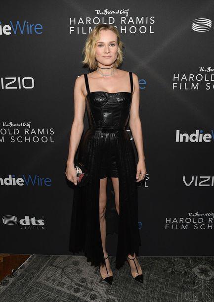 dress diane kruger black dress bustier dress gown shorts